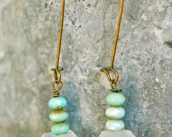 Olivia. boho,beaded,dangle earrings. Tiedupmemories