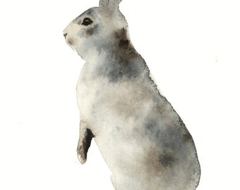 nursery art - Grey Rabbit No. 2  Archival Print