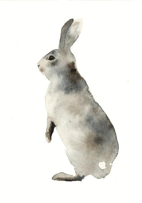 Nursery art, nursery decor, Woodlands Nursery Art, Rabbit Wall Decor, Baby Animal Print,  Nursery Woodlands Bunny