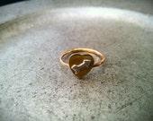Cupid Arrow Heart Ring size 5.5