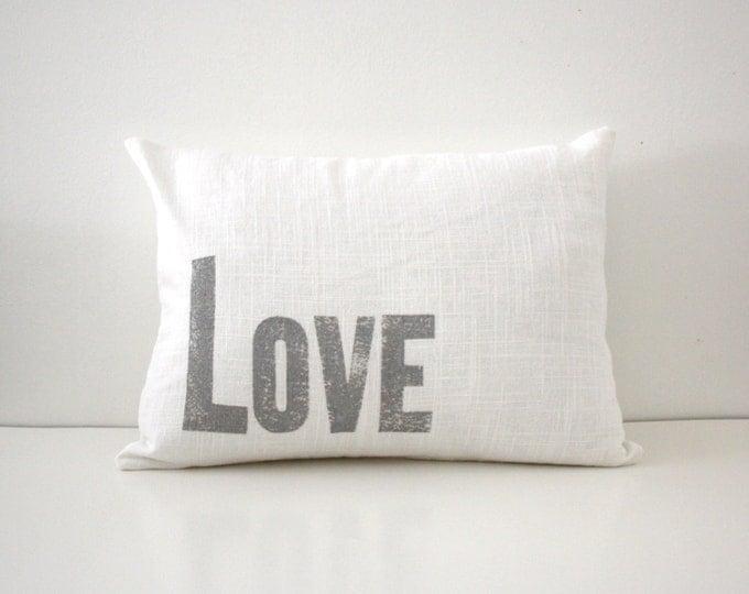 Letterpress Font Pillow