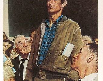 """1978 Norman Rockwell Book Plate """"Freedom of Speech"""""""