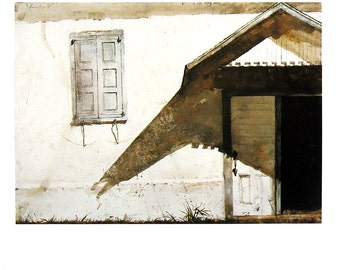 Andrew Wyeth Art - Shuttered - 1992 Vintage Reproduction Book Page - 12 x 9