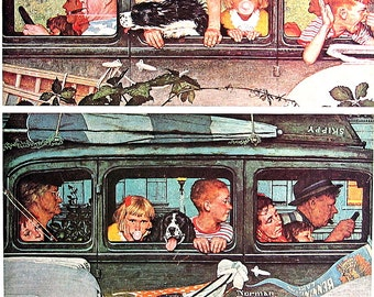 The Outing - Vintage Book Page - 1976 Norman Rockwell Print
