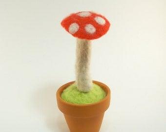Needle Felted Mini Toadstool Mushroom