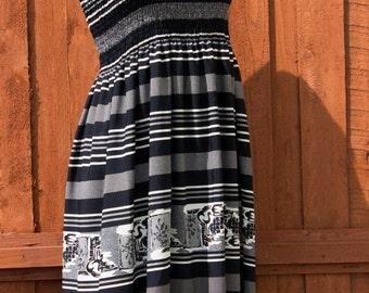 Halter Dress/ Shirred Top/Summer Dress
