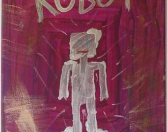 Purple Robot Painting