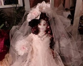 SALE -- SALE Original Sha Bebe Cloth Doll Made by Cajun Doll Artist, Mary Lynn Plaisance in  Louisiana. Art doll collectibles ~!!