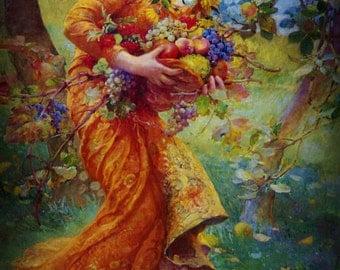 Alban Elfed Perfume Oil - Mabon Autumn Equinox Perfume - Apple Peach Pear Pumpkin Carnation Sandalwood Vanilla Oakmoss Amber Perfume