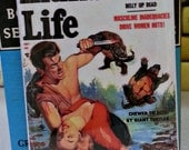 Man's Life vintage refrigerator magnet pulp fiction magazine cover