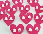GHOST Earrings - White Ghost Acrylic Studs