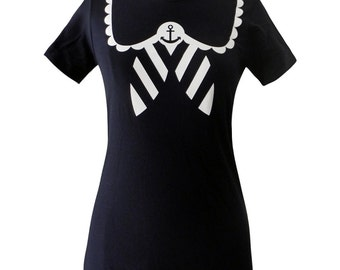 Sailor Shirt - Nautical Anchor NAVY T-Shirt - Choose from S, M, L XL