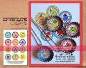 "Instant Download - 1-inch Bottle Cap Images Fruit of the Spirit Collection - 4x6"" Digital File Only"