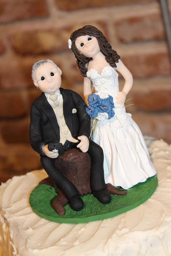 Design Your Own Bride And Groom Cake Toppers : Custom wedding cake topper Bride and groom cake topper