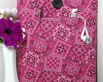iPad Mini Cover Kindle Case Kindle Sleeve Asus Case Dell Venue Nexus7 Samsung Case Tablet Sleeves Pink Bandanas