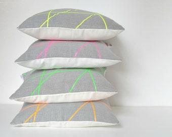 Neon designs pillow cover 18 x 18 inches, Mikado Collection