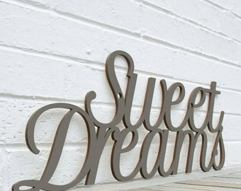 Sweet Dreams Sign, Nursery Room Sign, Baby Room Decor, Baby Wall Sign, Wood Meme Sign, Funky Wood Sign, Wood Sign Decor, Wood Word Sign