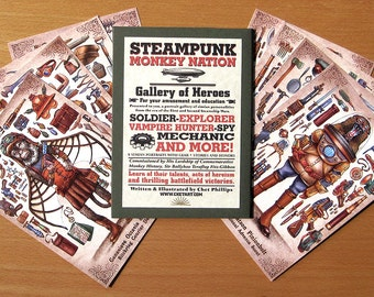 Steampunk Monkey Nation Gallery of Heroes Portfolio