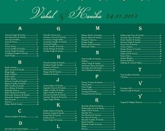 Bejeweled Seating Chart- Printable