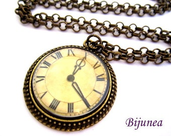 Clock necklace- Watch fairy necklace - Time necklace - Steampunk necklace - Watch necklace n607