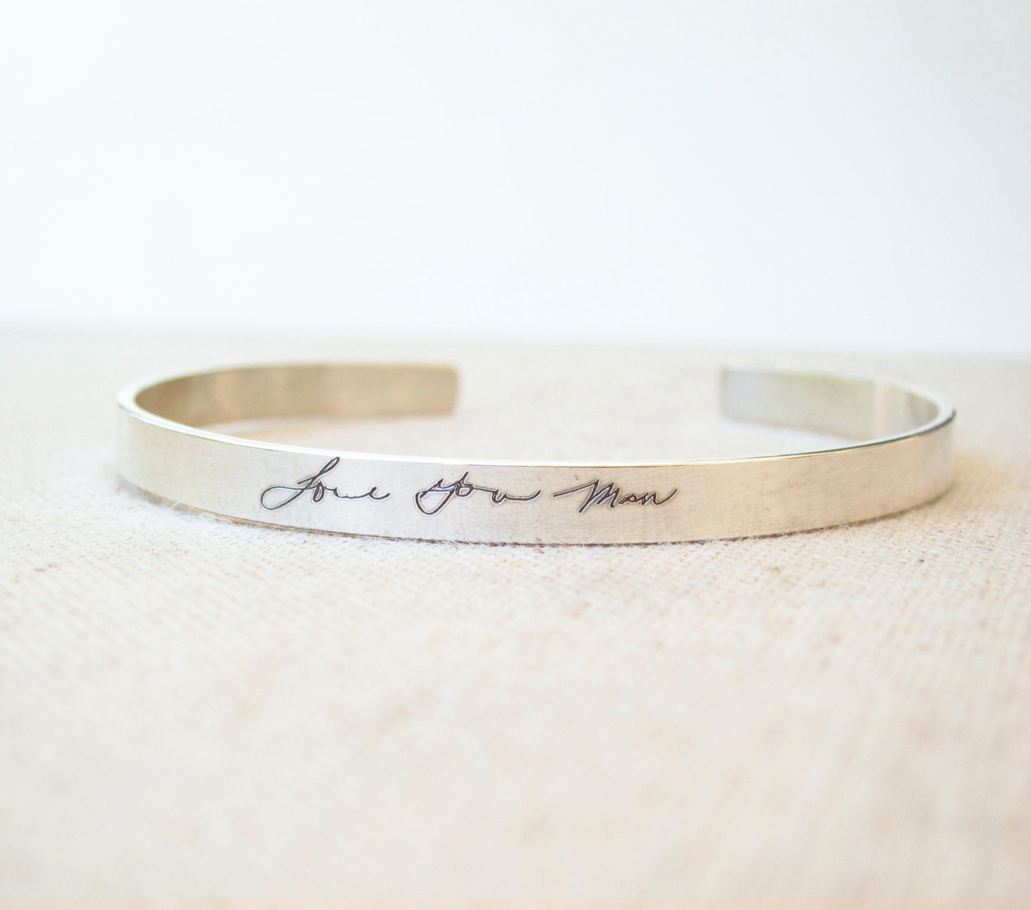 personalized cuff thin personalized silver cuff bracelet. Black Bedroom Furniture Sets. Home Design Ideas