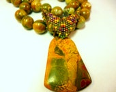 RESERVE LISTING for MARY*Jungle Love - Picasso & Rainforest Jasper Necklace and Earrings