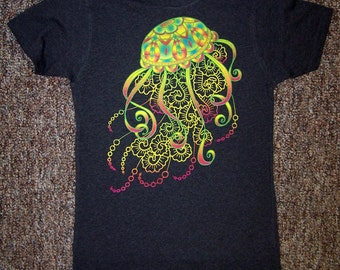 Vibrant Jellyfish tee, ladies