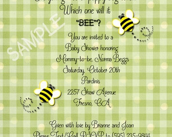 Which will it BEE  Baby Shower Invitations - Gender Neutral