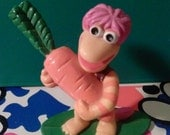 "1980s vintage ""Fraggle Rock"" Gobo figurine toy"