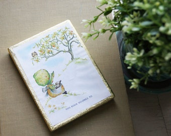 Antioch Bookplates, Book Plates, Set of 50 Boxed, Holly Hobbie, Owl, 1970's, Children's Library, Gummed Seals
