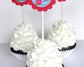 Valentine Owl Cupcake Toppers - You're A Hoot,  Set of 12