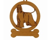 Afghan Standing 2 Ornament 081039 Personalized With Your Dog's Name