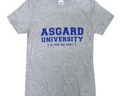 Asgard University Mens T-Shirt - THOR Shirt - Sizes S, M, L, XL