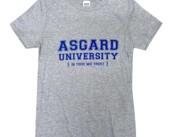 Asgard University Mens T-Shirt - THOR Shirt - Sizes S, M, L, XL