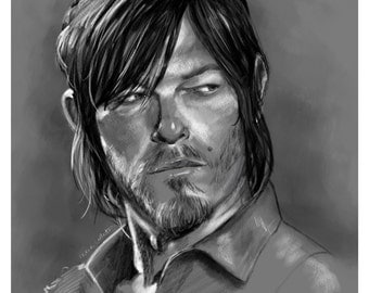 """Daryl Dixon Norman Reedus Walking Dead 8""""x10"""" print"""