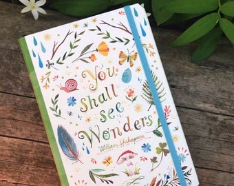 ON SALE TODAY!!  You Shall See Wonders Notepad Folio | Notebook | Journal | Shakespeare | Katie Daisy