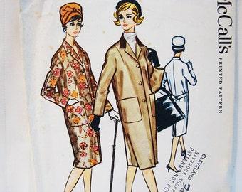 1950s Coat Pattern Misses size 14 McCalls Womens Coat Sewing Pattern Vintage 50s