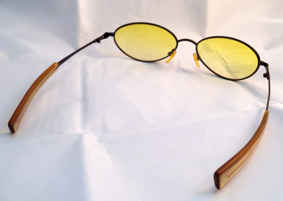 Eyeglass Frames Straight Arms : SALE Vintage Italy Design Straight Arms Eye Glasses by ...