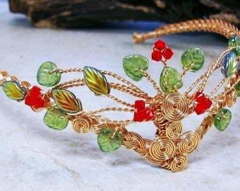 Rowan Berry Celtic Tree of Life Tiara