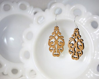 West Earrings in Bamboo - Vane Collection