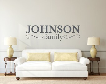 Last Name Family Wall Decal Wedding  DB192