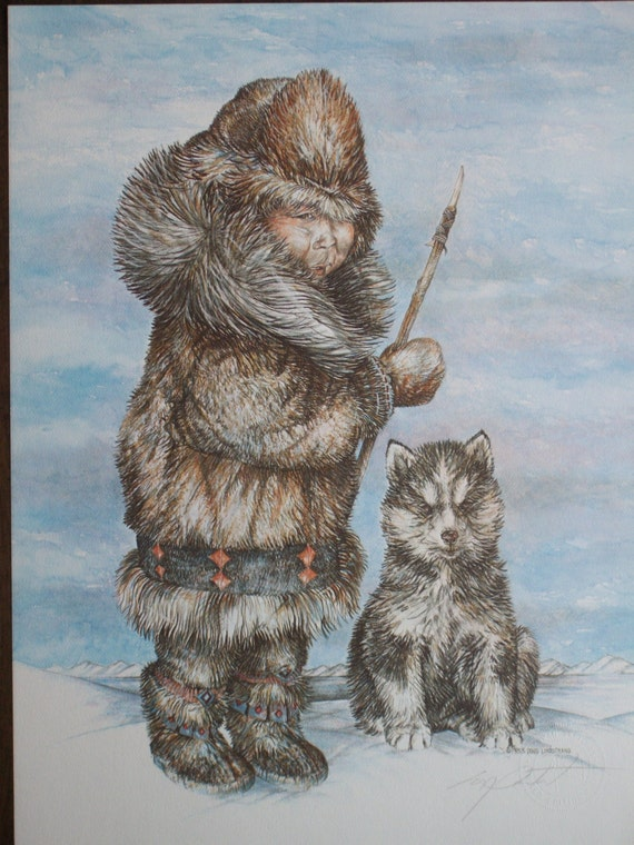 Vintage 1983 Print Of Alaskan Wildlife By Artists Doug