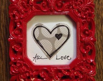 Love Mini Frame - Heart