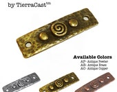 Spiral and Rivet Link by TierraCast, 1 pcs