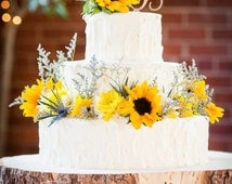 """16"""" STUMP Rustic Wood Tree Trunk Slice Wedding Cake Base Stand or Photography Prop"""