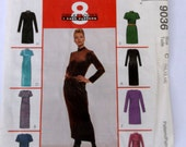 Mccalls 9036 Misses Dress Pattern Size 10-14, stretch knits only,8 great looks one easy pattern, dress in two lengths,