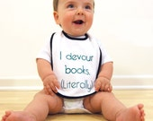 I Devour Books, Literally Bib