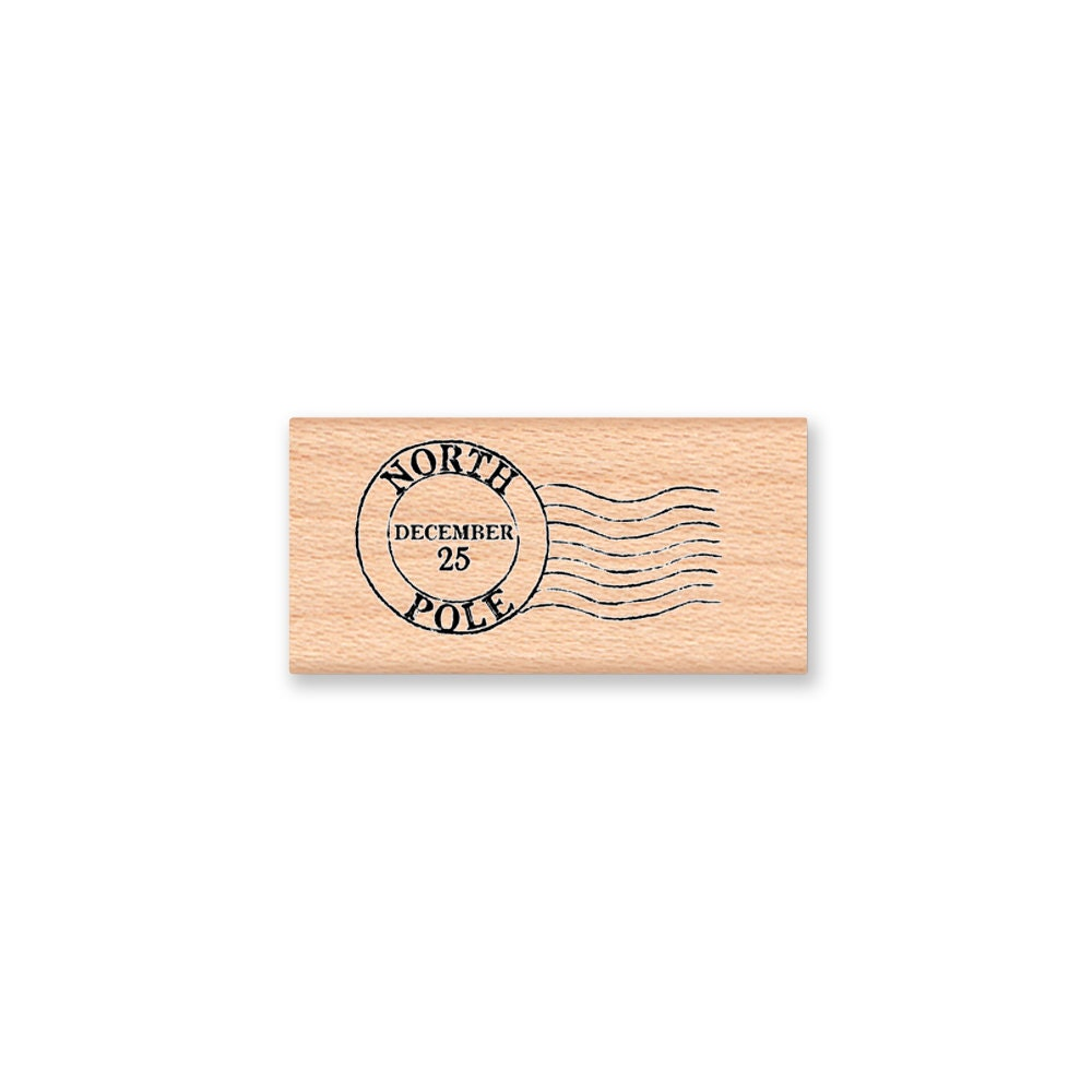 NORTH POLE Post Mark Rubber Stamp~Official Postal Seal ...