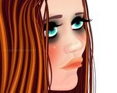 Custom portrait (waist up) business owner avatar / Wedding / Engagement