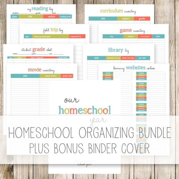 Homeschool Organizing Bundle Plus BONUS Homeschool Binder